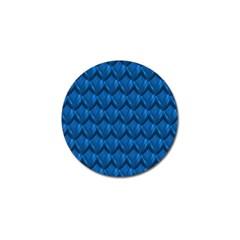 Blue Dragon Snakeskin Skin Snake Wave Chefron Golf Ball Marker (4 Pack) by Mariart