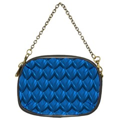 Blue Dragon Snakeskin Skin Snake Wave Chefron Chain Purses (two Sides)  by Mariart