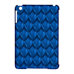 Blue Dragon Snakeskin Skin Snake Wave Chefron Apple Ipad Mini Hardshell Case (compatible With Smart Cover) by Mariart
