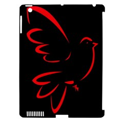 Dove Red Black Fly Animals Bird Apple Ipad 3/4 Hardshell Case (compatible With Smart Cover) by Mariart