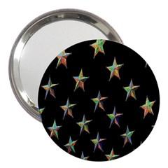 Colorful Gold Star Christmas 3  Handbag Mirrors by Mariart