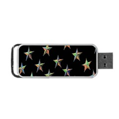Colorful Gold Star Christmas Portable Usb Flash (one Side) by Mariart