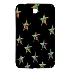 Colorful Gold Star Christmas Samsung Galaxy Tab 3 (7 ) P3200 Hardshell Case  by Mariart