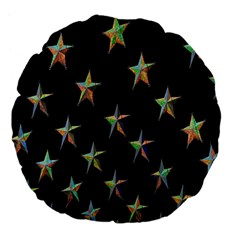 Colorful Gold Star Christmas Large 18  Premium Flano Round Cushions by Mariart