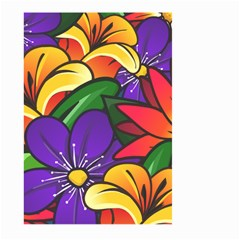 Bright Flowers Floral Sunflower Purple Orange Greeb Red Star Large Garden Flag (two Sides) by Mariart