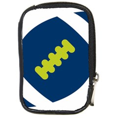 Football America Blue Green White Sport Compact Camera Cases by Mariart