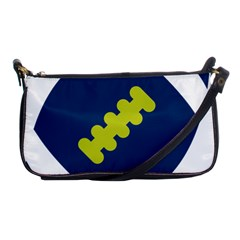 Football America Blue Green White Sport Shoulder Clutch Bags by Mariart