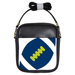 Football America Blue Green White Sport Girls Sling Bags by Mariart