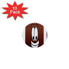 Happy Football Clipart Excellent Illustration Face 1  Mini Buttons (10 Pack)  by Mariart
