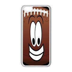 Happy Football Clipart Excellent Illustration Face Apple Iphone 5c Seamless Case (white) by Mariart