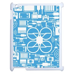 Drones Registration Equipment Game Circle Blue White Focus Apple Ipad 2 Case (white) by Mariart