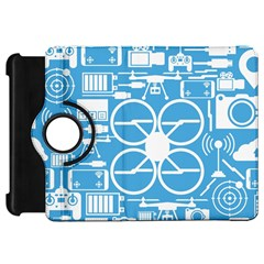 Drones Registration Equipment Game Circle Blue White Focus Kindle Fire Hd 7  by Mariart