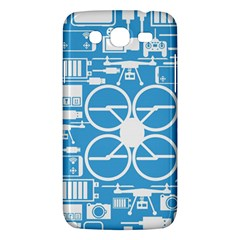 Drones Registration Equipment Game Circle Blue White Focus Samsung Galaxy Mega 5 8 I9152 Hardshell Case  by Mariart