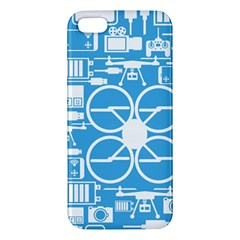 Drones Registration Equipment Game Circle Blue White Focus Iphone 5s/ Se Premium Hardshell Case by Mariart