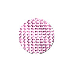 Heart Love Pink Purple Golf Ball Marker (10 Pack) by Mariart