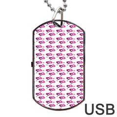 Heart Love Pink Purple Dog Tag Usb Flash (two Sides) by Mariart