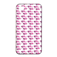 Heart Love Pink Purple Apple Iphone 4/4s Seamless Case (black) by Mariart