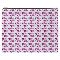 Heart Love Pink Purple Cosmetic Bag (xxxl)  by Mariart