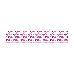 Heart Love Pink Purple Flano Scarf (mini) by Mariart