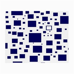 Illustrated Blue Squares Small Glasses Cloth (2 Side) by Mariart