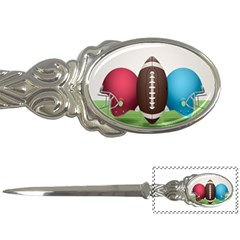 Helmet Ball Football America Sport Red Brown Blue Green Letter Openers by Mariart