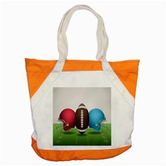 Helmet Ball Football America Sport Red Brown Blue Green Accent Tote Bag by Mariart