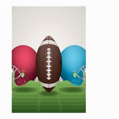 Helmet Ball Football America Sport Red Brown Blue Green Small Garden Flag (two Sides) by Mariart