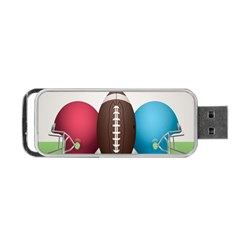 Helmet Ball Football America Sport Red Brown Blue Green Portable Usb Flash (one Side) by Mariart