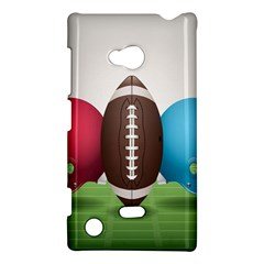 Helmet Ball Football America Sport Red Brown Blue Green Nokia Lumia 720 by Mariart