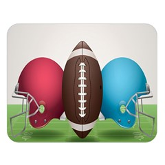 Helmet Ball Football America Sport Red Brown Blue Green Double Sided Flano Blanket (large)  by Mariart