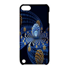 Fractal Balls Flying Ultra Space Circle Round Line Light Blue Sky Gold Apple Ipod Touch 5 Hardshell Case With Stand by Mariart