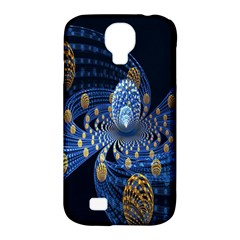Fractal Balls Flying Ultra Space Circle Round Line Light Blue Sky Gold Samsung Galaxy S4 Classic Hardshell Case (pc+silicone) by Mariart