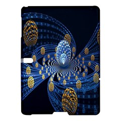 Fractal Balls Flying Ultra Space Circle Round Line Light Blue Sky Gold Samsung Galaxy Tab S (10 5 ) Hardshell Case  by Mariart