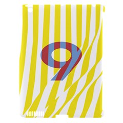 Number 9 Line Vertical Yellow Red Blue White Wae Chevron Apple Ipad 3/4 Hardshell Case (compatible With Smart Cover) by Mariart