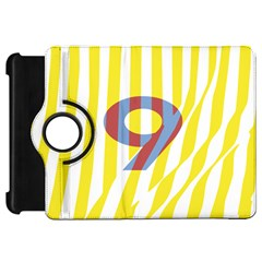 Number 9 Line Vertical Yellow Red Blue White Wae Chevron Kindle Fire Hd 7  by Mariart