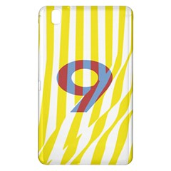 Number 9 Line Vertical Yellow Red Blue White Wae Chevron Samsung Galaxy Tab Pro 8 4 Hardshell Case by Mariart