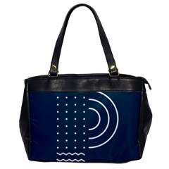 Parachute Water Blue Waves Circle White Office Handbags by Mariart