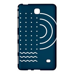 Parachute Water Blue Waves Circle White Samsung Galaxy Tab 4 (8 ) Hardshell Case  by Mariart