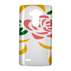 Pink Rose Ribbon Bouquet Green Yellow Flower Floral Lg G4 Hardshell Case by Mariart