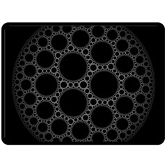 Plane Circle Round Black Hole Space Fleece Blanket (large)  by Mariart