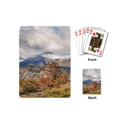 Forest And Snowy Mountains, Patagonia, Argentina Playing Cards (mini)  by dflcprints