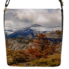 Forest And Snowy Mountains, Patagonia, Argentina Flap Messenger Bag (s) by dflcprints