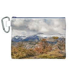 Forest And Snowy Mountains, Patagonia, Argentina Canvas Cosmetic Bag (xl) by dflcprints