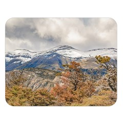 Forest And Snowy Mountains, Patagonia, Argentina Double Sided Flano Blanket (large)  by dflcprints