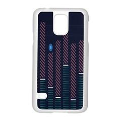 Plaid Line Circle Polka Green Red Blue Samsung Galaxy S5 Case (white) by Mariart