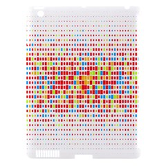 Random Sized Cube Multiple Plaid Color Rainbow Apple Ipad 3/4 Hardshell Case (compatible With Smart Cover) by Mariart