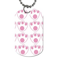 Rabbit Feet Paw Pink Foot Animals Dog Tag (one Side) by Mariart