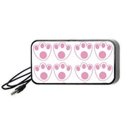 Rabbit Feet Paw Pink Foot Animals Portable Speaker (black) by Mariart