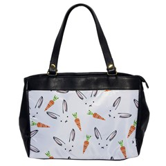 Rabbit Carrot Pattern Weft Step Face Office Handbags by Mariart