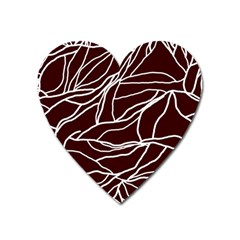 River System Line Brown White Wave Chevron Heart Magnet by Mariart